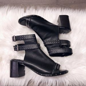 Top shop studded vegan leather heeled booties!